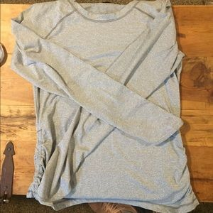 Grey and white energy zone long sleeve